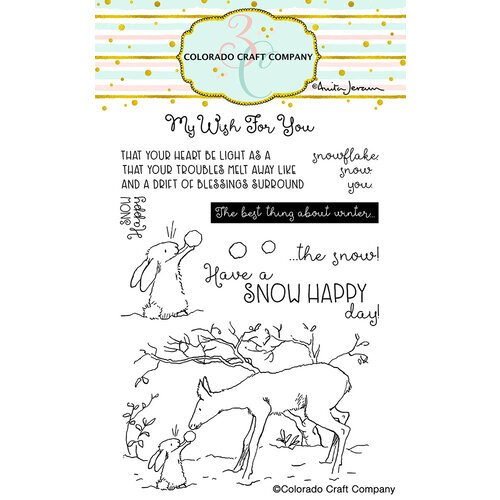 Colorado Craft Company - Clear Photopolymer Stamps - Snow Happy
