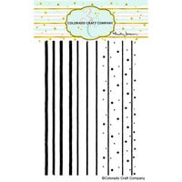 Colorado Craft Company - Clear Photopolymer Stamps - Stripes and Dots Background