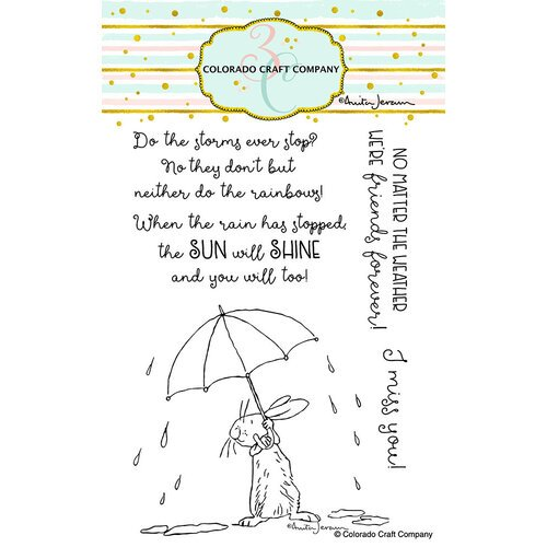 Colorado Craft Company - Clear Photopolymer Stamps - All Weather Friends