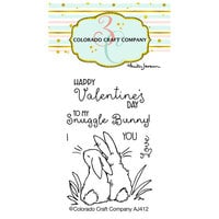 Colorado Craft Company - Clear Photopolymer Stamps - Mini - Snuggle Bunny