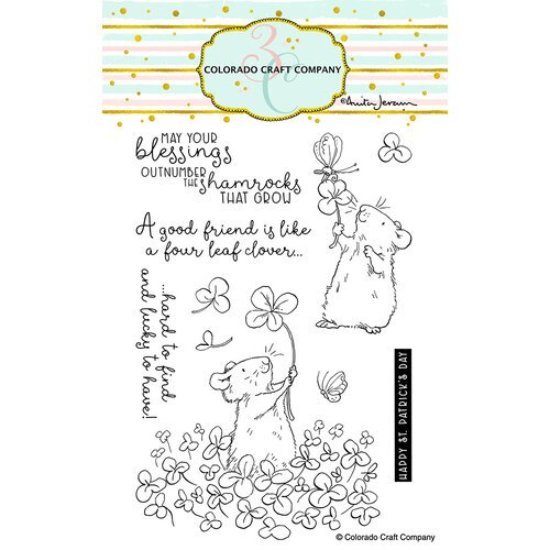 Colorado Craft Company - Clear Photopolymer Stamps - Four Leaf Clover