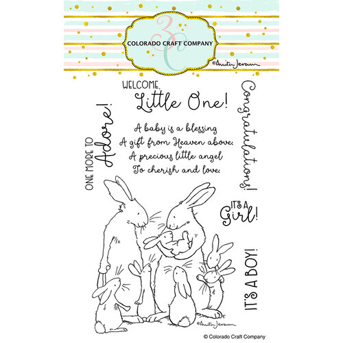 Colorado Craft Company - Clear Photopolymer Stamps - New Baby
