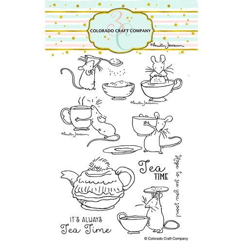 Colorado Craft Company - Clear Photopolymer Stamps - Tea Time Fun