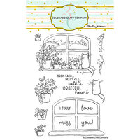 Colorado Craft Company - Clear Photopolymer Stamps - New Day Windowsill