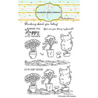 Colorado Craft Company - Clear Photopolymer Stamps - Topiaries and Kitten