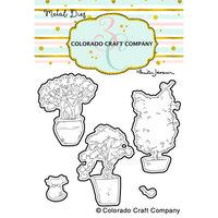 Colorado Craft Company - Dies - Topiaries and Kitten