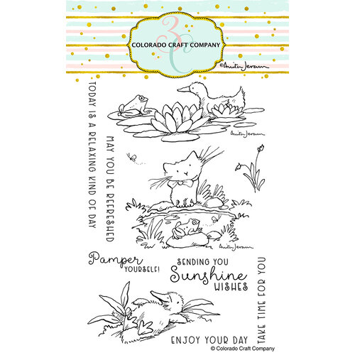 Colorado Craft Company - Clear Photopolymer Stamps - Pond Pampering