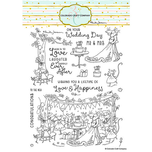 Colorado Craft Company - Clear Photopolymer Stamps - Happily Ever After