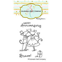 Colorado Craft Company - Clear Photopolymer Stamps - Mini - Anniversary