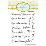 Colorado Craft Company - Clear Photopolymer Stamps - For Mom Names