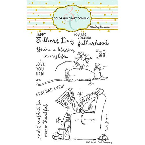 Colorado Craft Company - Clear Photopolymer Stamps - For Dad