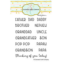 Colorado Craft Company - Clear Photopolymer Stamps - For Dad Names