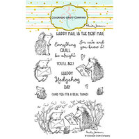 Colorado Craft Company - Clear Photopolymer Stamps - Hedgehog Day
