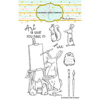 Colorado Craft Company - Clear Photopolymer Stamps - Art Is