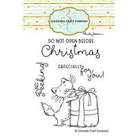 Colorado Craft Company - Clear Photopolymer Stamps - Christmas - No Peeking