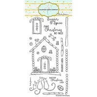 Colorado Craft Company - Clear Photopolymer Stamps - Christmas - Slimline - Gingerbread House