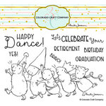 Colorado Craft Company - Clear Photopolymer Stamps - Conga Line