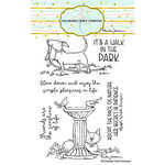 Colorado Craft Company - Clear Photopolymer Stamps - Birdbath Friends