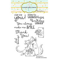 Colorado Craft Company - Clear Photopolymer Stamps - Whisker Kisses