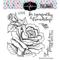 Colorado Craft Company - Big and Bold Collection - Clear Photopolymer Stamps - Sympathy and Friendship Rose