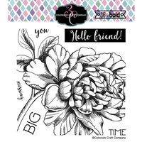 Colorado Craft Company - Big and Bold Collection - Clear Photopolymer Stamps - Missing You Peony