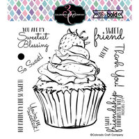 Colorado Craft Company - Big and Bold Collection - Clear Photopolymer Stamps - Sweet Friend Cupcake