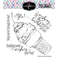 Colorado Craft Company - Big and Bold Collection - Clear Photopolymer Stamps - Sweetest Birthday Cone