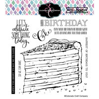 Colorado Craft Company - Big and Bold Collection - Clear Photopolymer Stamps - Birthday Cake