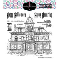 Colorado Craft Company - Big and Bold Collection - Clear Photopolymer Stamps - Haunted House