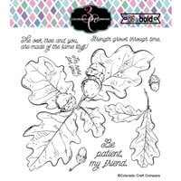 Colorado Craft Company - Big and Bold Collection - Clear Photopolymer Stamps - Oak Leaves and Acorns