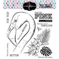 Colorado Craft Company - Big and Bold Collection - Clear Photopolymer Stamps - Tickled Pink