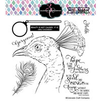 Colorado Craft Company - Big and Bold Collection - Clear Photopolymer Stamps - Hope Sings Peacock