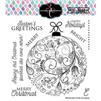 Colorado Craft Company - Big and Bold Collection - Clear Photopolymer Stamps - Holiday Ornament