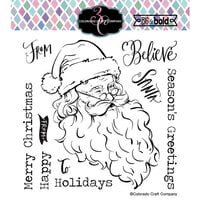 Colorado Craft Company - Big and Bold Collection - Clear Photopolymer Stamps - Vintage Santa