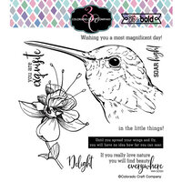 Colorado Craft Company - Big and Bold Collection - Clear Photopolymer Stamps - Hummingbird Delight
