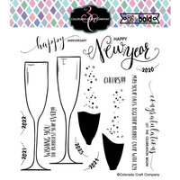 Colorado Craft Company - Big and Bold Collection - Clear Photopolymer Stamps - Champagne Celebrations