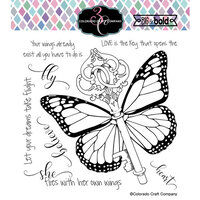 Colorado Craft Company - Big and Bold Collection - Clear Photopolymer Stamps - Her Own Wings