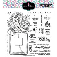 Colorado Craft Company - Big and Bold Collection - Clear Photopolymer Stamps - Perfume Bouquet