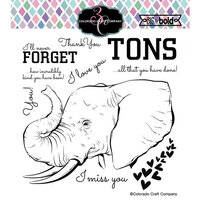 Colorado Craft Company - Big and Bold Collection - Clear Photopolymer Stamps - Love You Tons