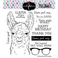 Colorado Craft Company - Big and Bold Collection - Clear Photopolymer Stamps - Llama Tell You