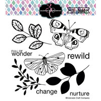 Colorado Craft Company - Big and Bold Collection - Clear Photopolymer Stamps - Blissful Butterflies