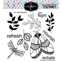 Colorado Craft Company - Big and Bold Collection - Clear Photopolymer Stamps - Majestic Moth