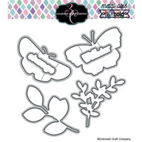 Colorado Craft Company - Big and Bold Collection - Dies - Blissful Butterflies