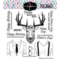 Colorado Craft Company - Big and Bold Collection - Clear Photopolymer Stamps - Hipster Deer