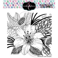 Colorado Craft Company - Big and Bold Collection - Clear Photopolymer Stamps - Daylily and Barberry