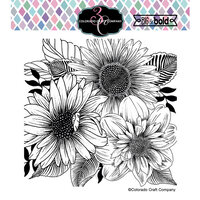 Colorado Craft Company - Big and Bold Collection - Clear Photopolymer Stamps - Daisy and Dahlia