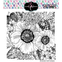 Colorado Craft Company - Big and Bold Collection - Clear Photopolymer Stamps - Anemone and Allium