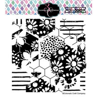Colorado Craft Company - Big and Bold Collection - Clear Photopolymer Stamps - Daisy and Bee Background