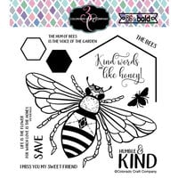 Colorado Craft Company - Big and Bold Collection - Clear Photopolymer Stamps - Honey Bee