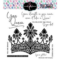 Colorado Craft Company - Big and Bold Collection - Clear Photopolymer Stamps - A Queen's Crown